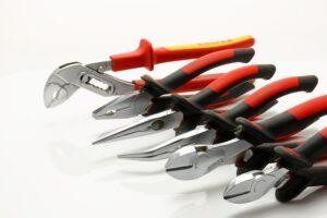 outils d'un plombier